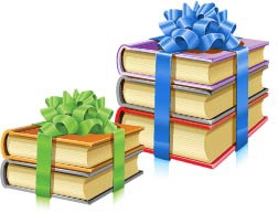 books with bows