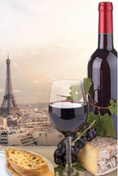 Capture French classes wine bottle