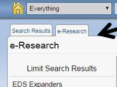 Capture e-Research tab