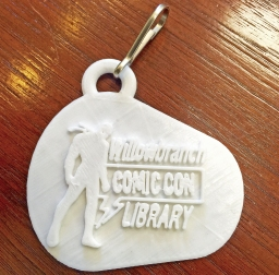ComicCon Keychain white